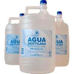 """agua desionizada """"adesco"""" 5 lts (1 unid.)"""