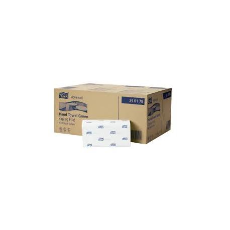 toalla plegada verde en z advanced tork caja 3000 t. (1 caja)