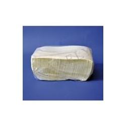 servilleta blanca 1/c 14x14 zig-zag paq.300 (1 paq.)