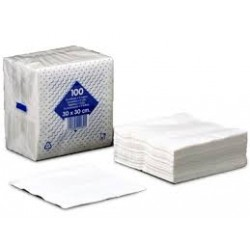 servilleta blanca 1/c 30x30 paq.100 (1 paq.)