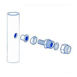 kit bacteriostatico tubo acero.