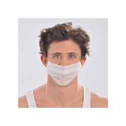 mascarilla simple papel 1/c blanco con gomas (1 pack 100 unid.)
