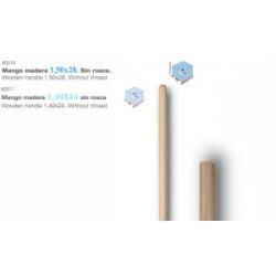 mango 1,5x28 (barrendero) largo madera (1 unid.)