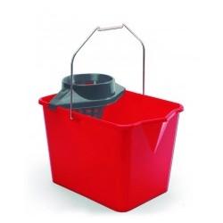 cubo rectangular con escurridor rojo 14lts (1 unid.)