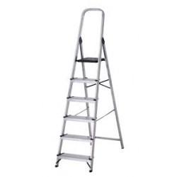 escalera aluminio tijera 6 peldaños (1 unid.)