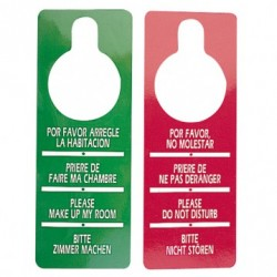 "cartel ""no molestar"" 8x28 rojo carton (1 pack 100 unid.)"