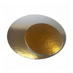 discos carton 300mm oro / plata (1 pack 100 unid.)