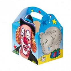 caja infantil cartulina circo 16x10x17 cuatricomia (1 pack 50 unid.)