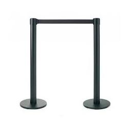 poste de separacion color negro con cinta (1 unid.)
