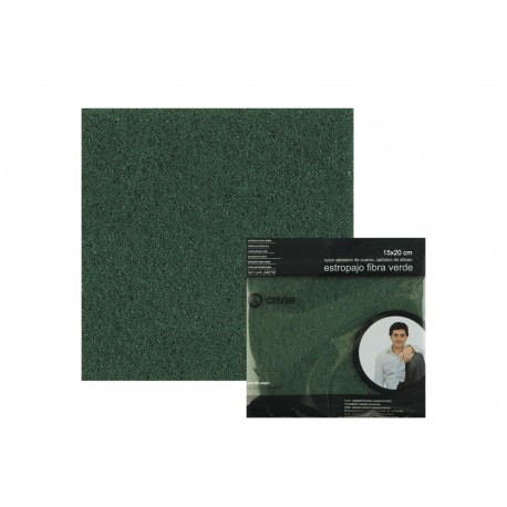 estropajo fibra verde 15x20cm (pack 12 unid.)